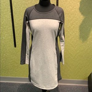 Athleta Omega Dress Light Grey Heather